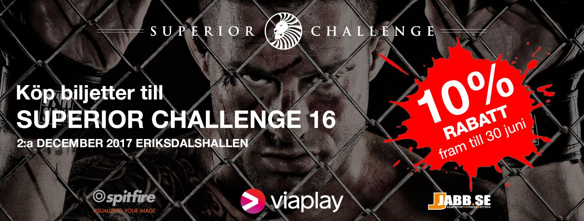 Köp biljetter till Superior Challenge 16
