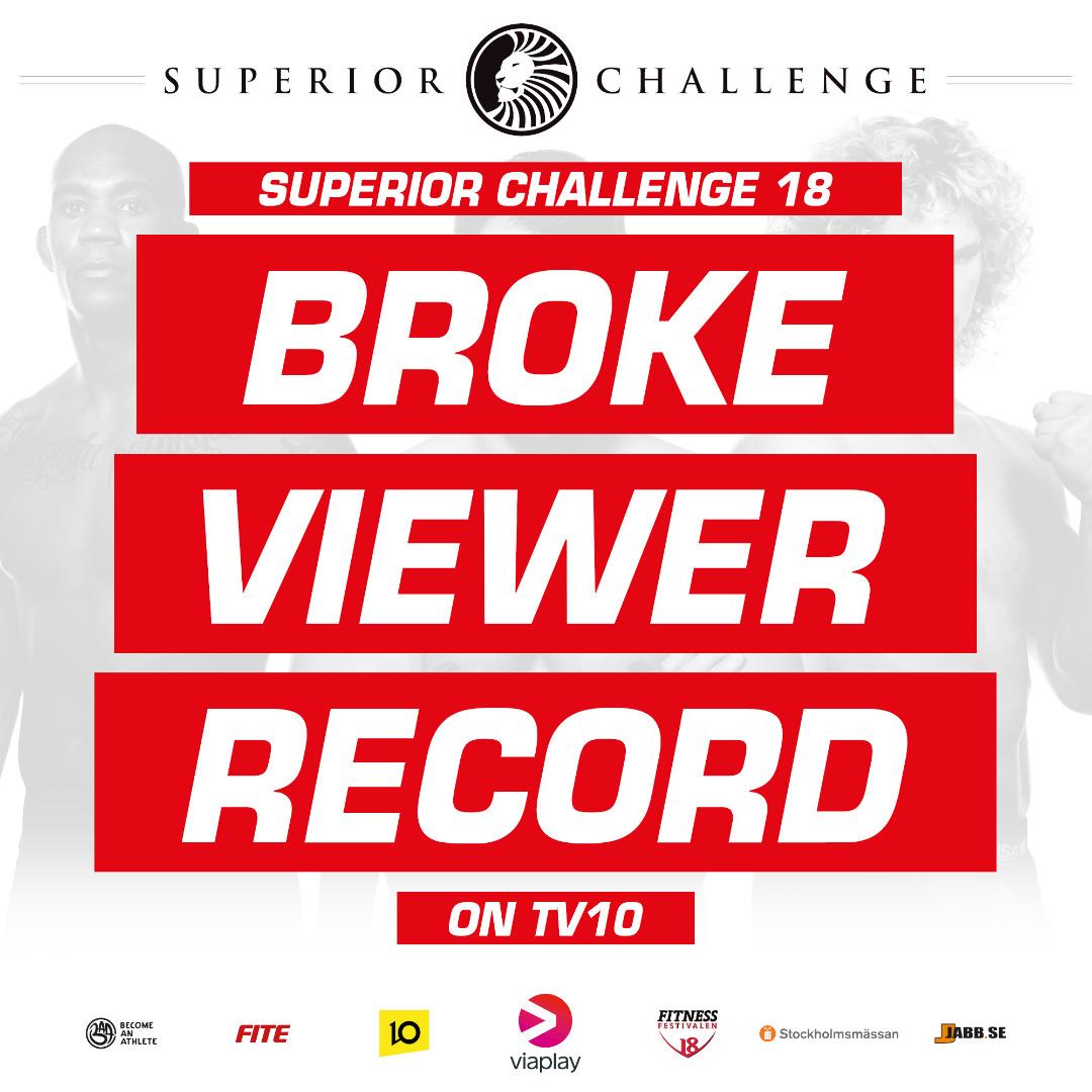 Superior Challenge 18 broke viewer record