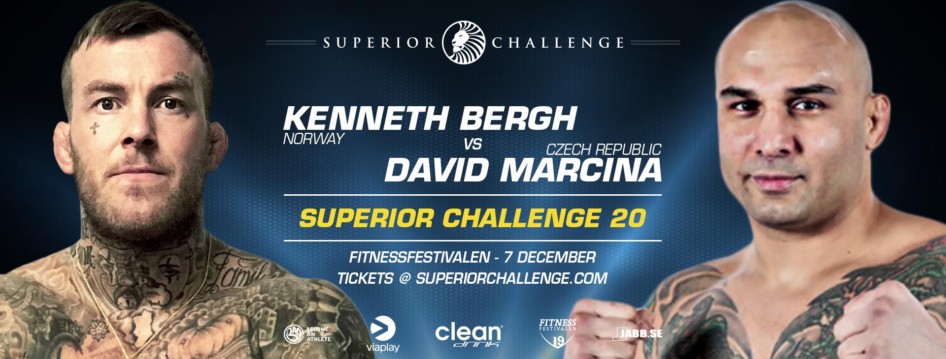 Kenneth Bergh vs David Marcina at Superior Challenge 20 - Fitnessfestivalen on December 7