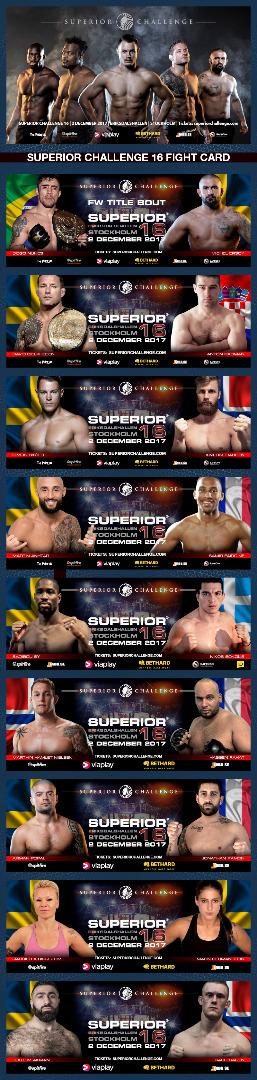 Fight Card Superior Challenge 16
