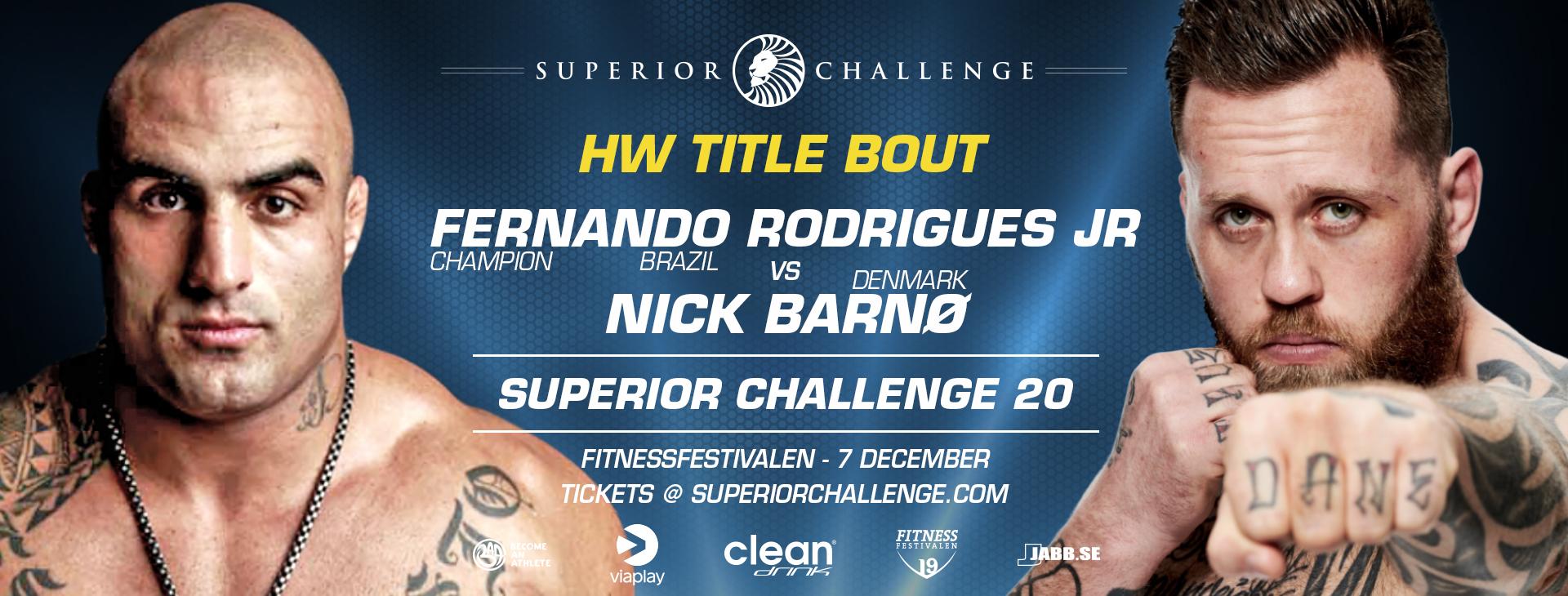 Fernando Rodrigues Jr vs Nick Barno at Superior Challenge 20 Fitnessfestivalen