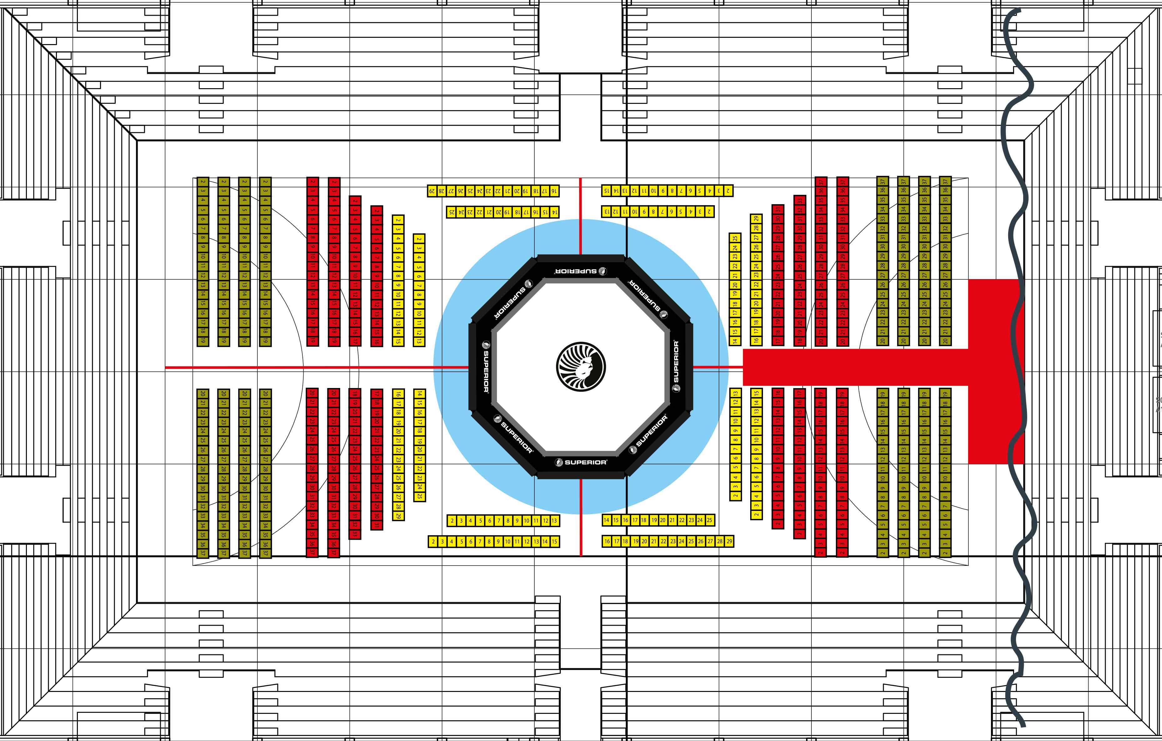 Superior Challenge 12 Malmö Baltiska Hallen Arena Layout