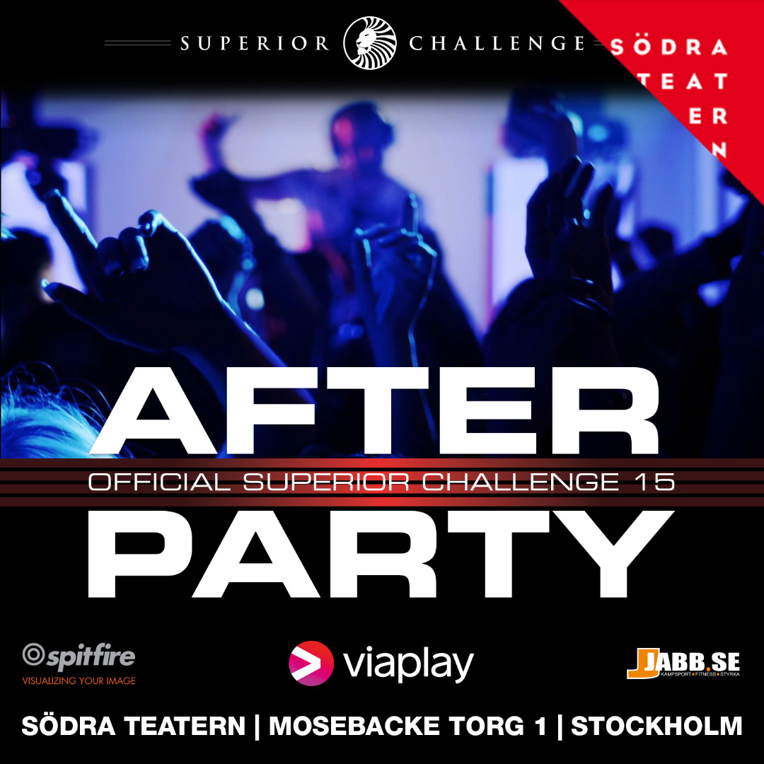 After Party Superior Challenge 15 at Södra Teatern