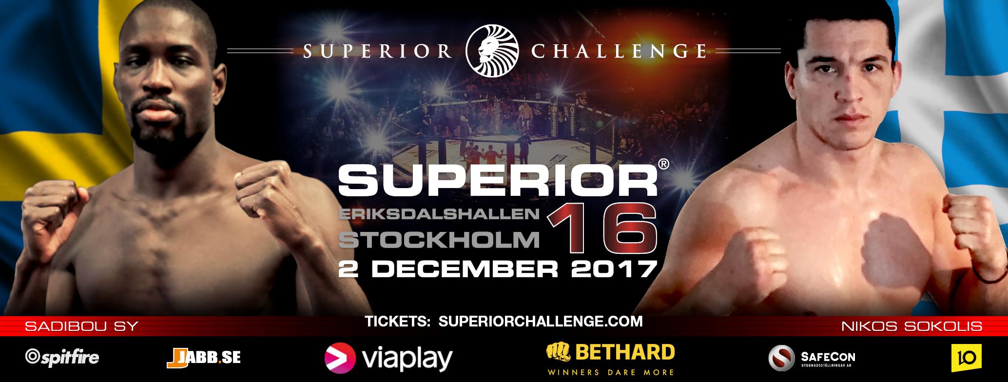 Sadibou Sy takes on Nikos Sokolis at Superior Challenge 16