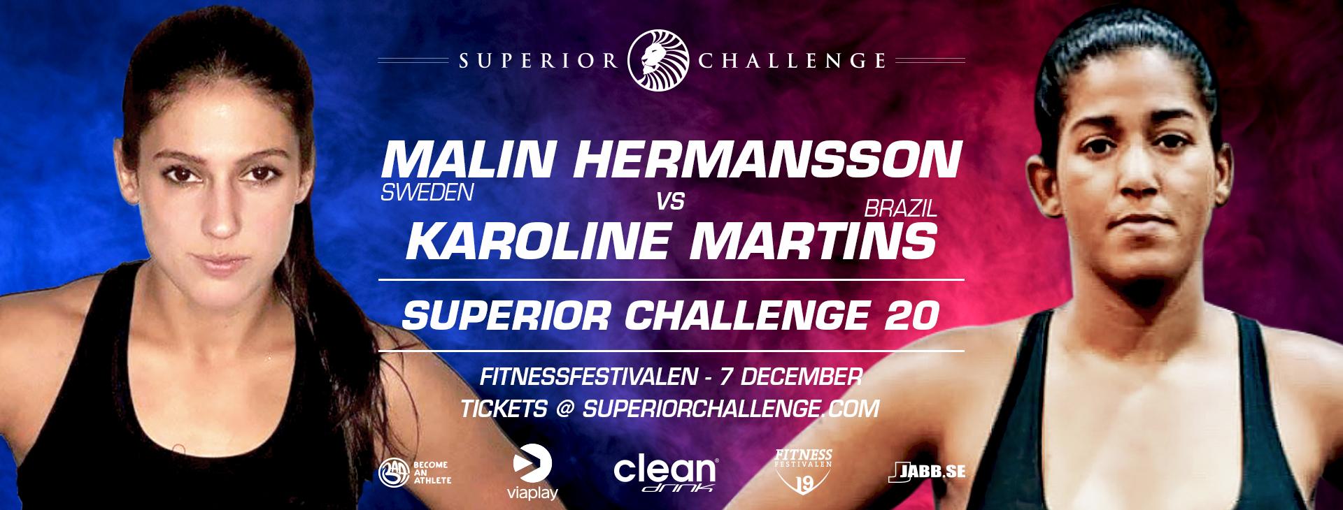 Malin Hermansson vs Karoline Martins Superior Challenge 20 - Fitnessfestivalen