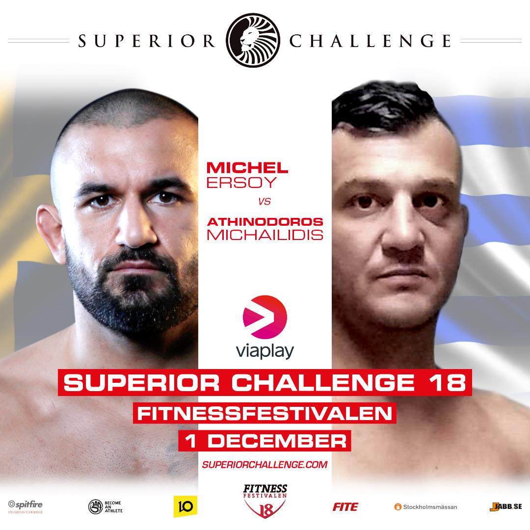 Michel Ersoy vs Athinodoros Superior Challenge 18 Fitnessfestivalen