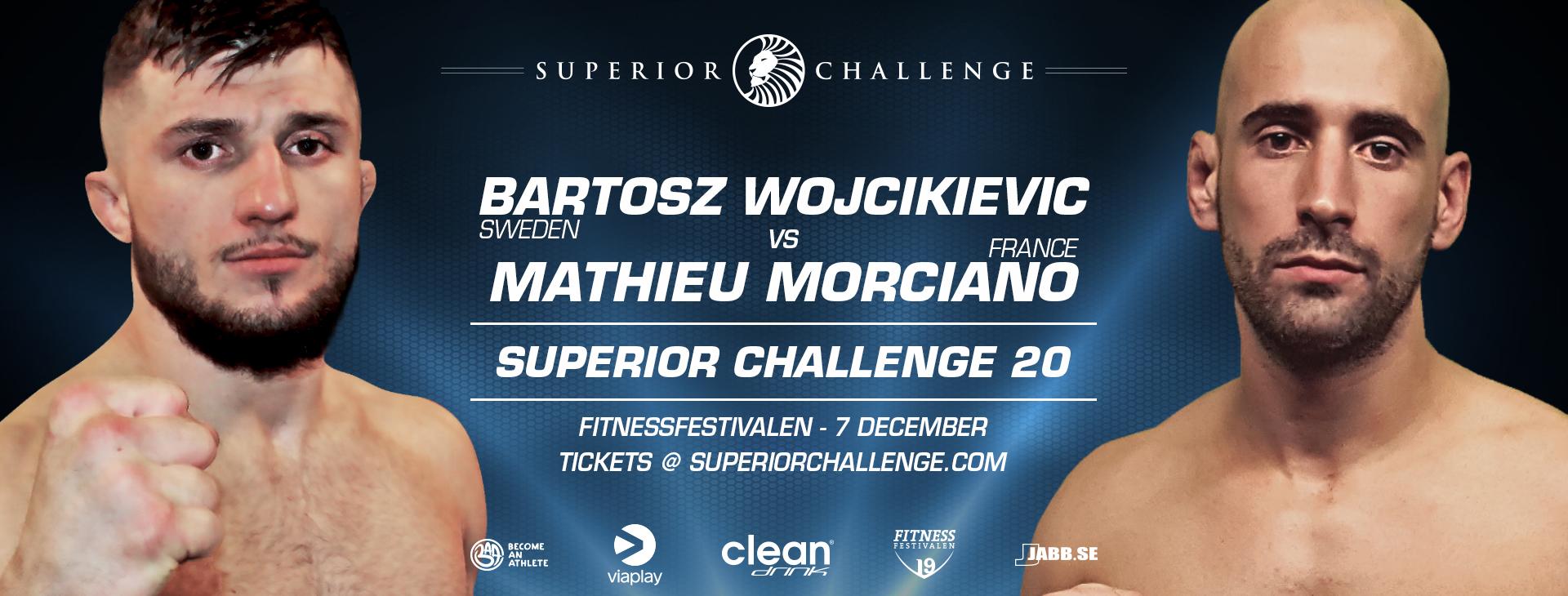 Bartosz Wojcikievicz vs Mathieu Morciano at Superior Challenge 20 - Fitnessfestivalen