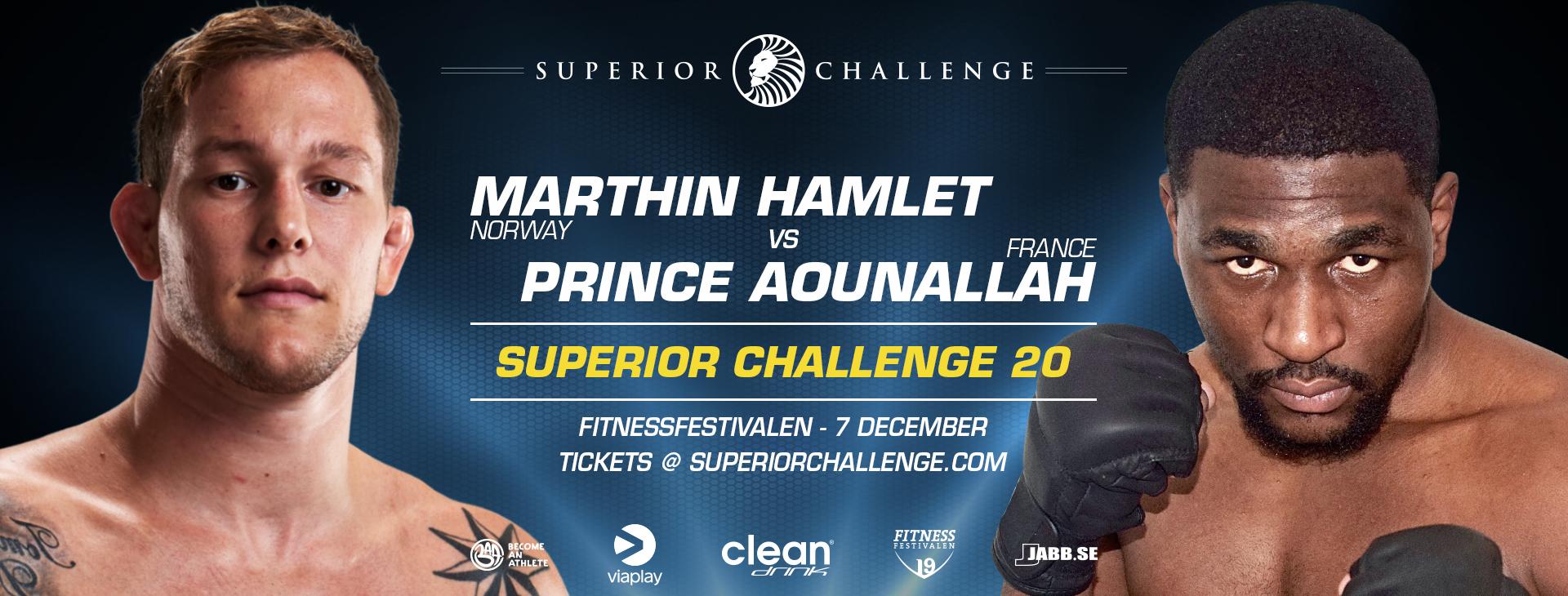 Marthin Hamlet vs Prince Aounallah at Superior Challenge 20 - Fitnessfestivalen