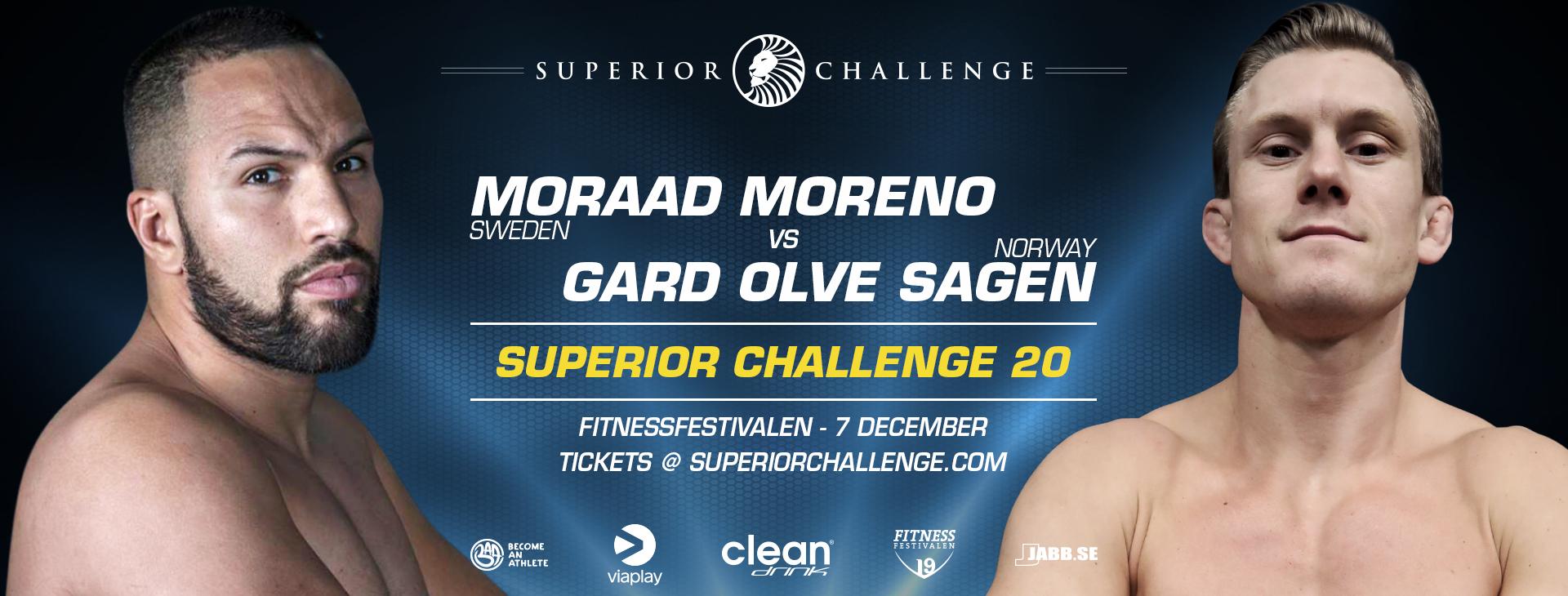 Mooard Moreno vs Gard Olve Sagen at Superior Challenge 20 - Fitnessfestivalen
