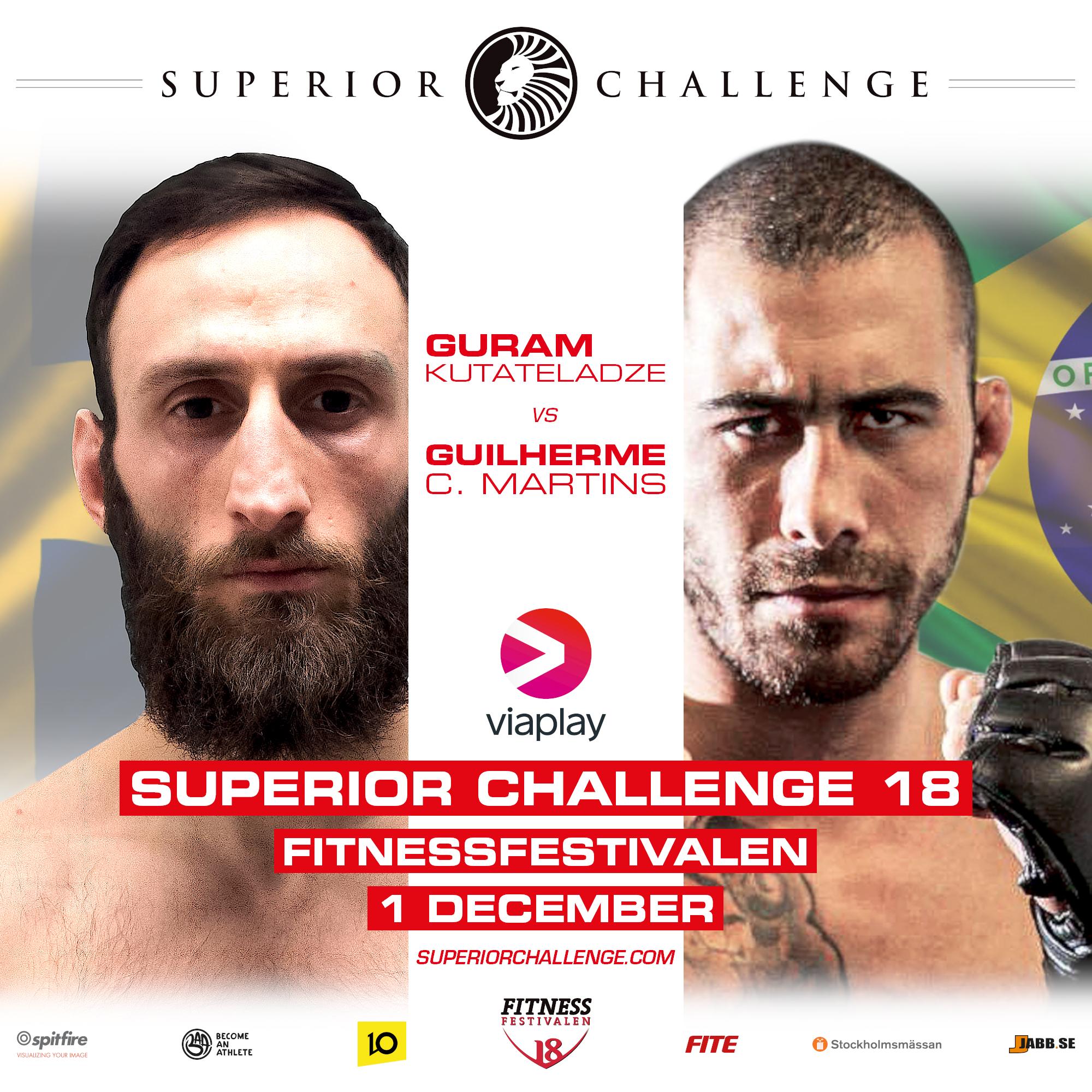 Fight Presentation Superior Challenge 18 Fitnessfestivalen Guram Kutateladze vs Guilherme C Martins