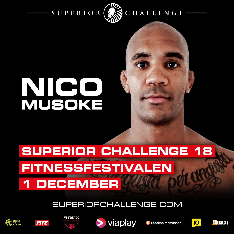 Nico Musoke ready for Superior Challenge 18 Fitnessfestivalen
