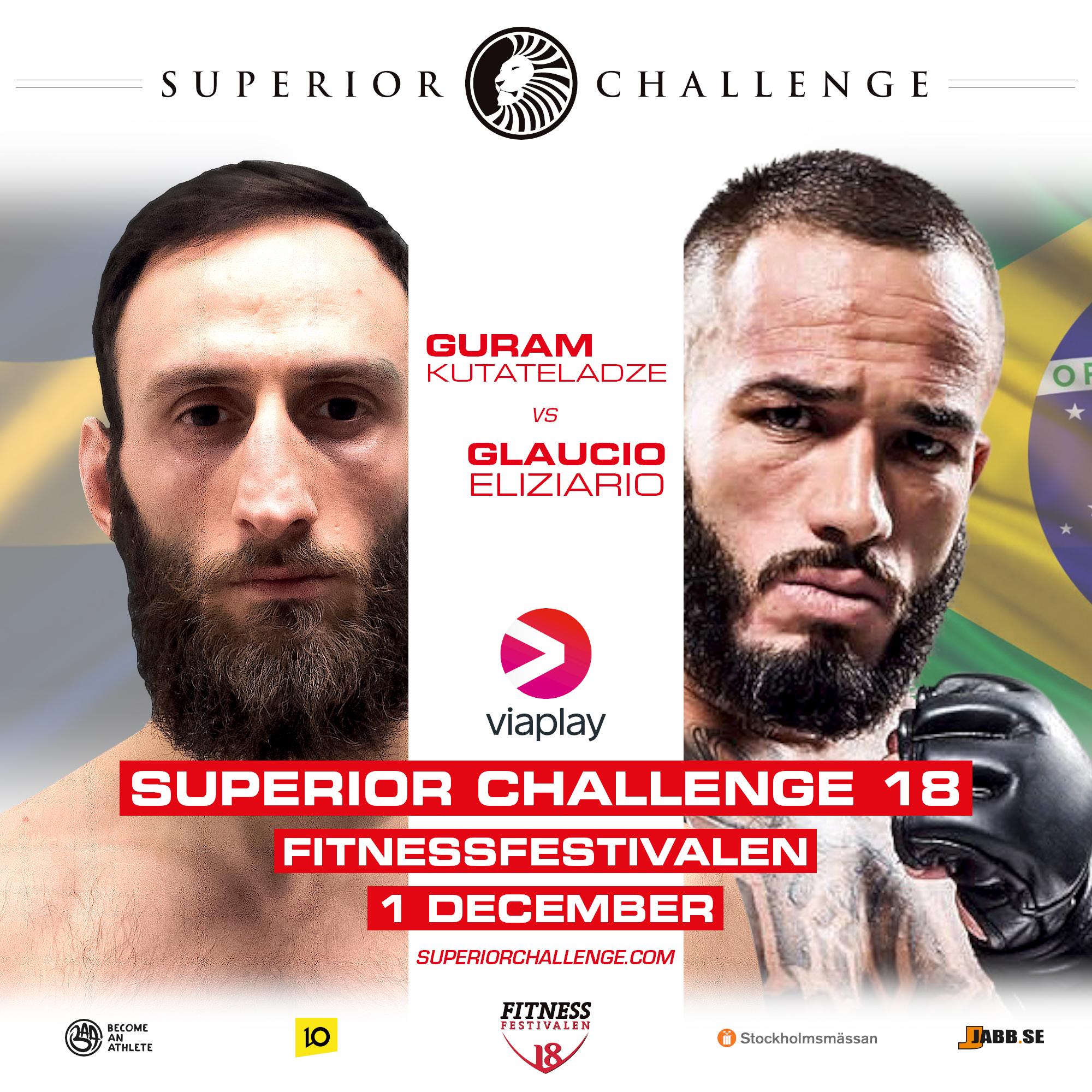Guram Kutateladze vs Glaucio Eliziario Superior Challenge 18 – Fitnessfestivalen