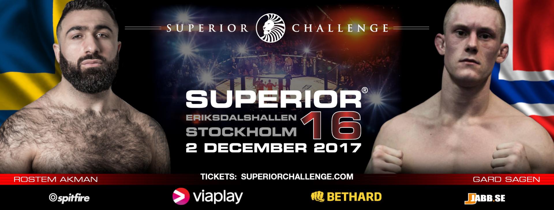 Superior Challenge 16 Rostem Akman vs Gard Sagen