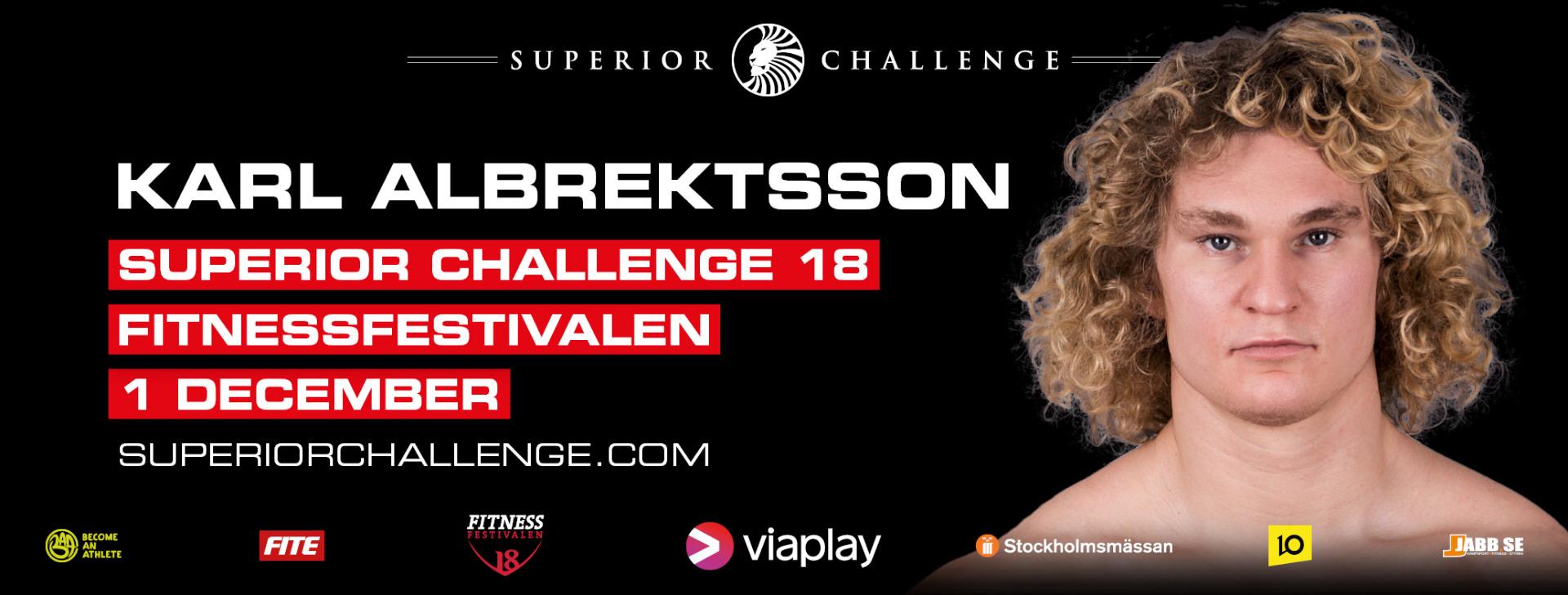Karl Albrektsson Superior Challenge 18 Fitnessfestivalen