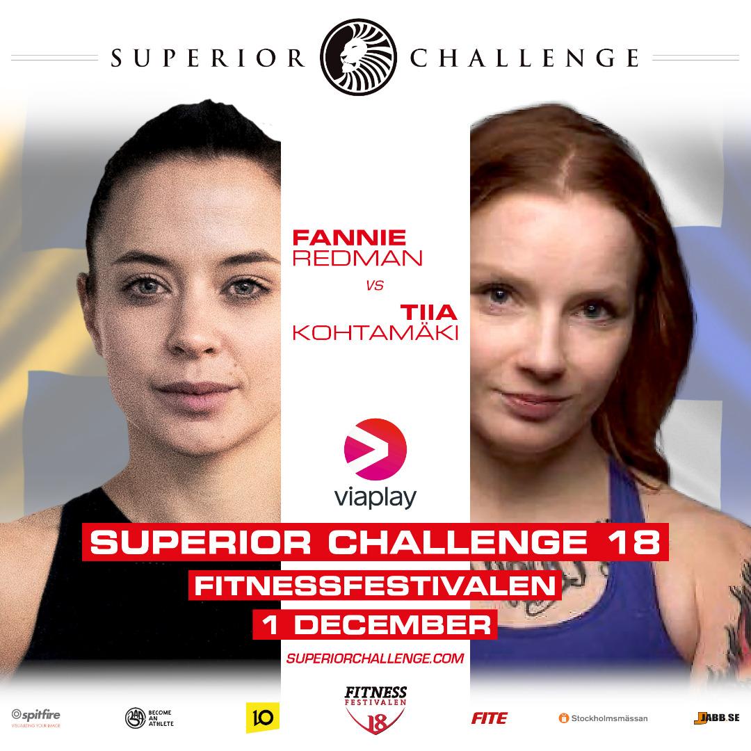 Fannie Redman vs Tiia Kohtamäki Superior Challenge 18 – Fitnessfestivalen