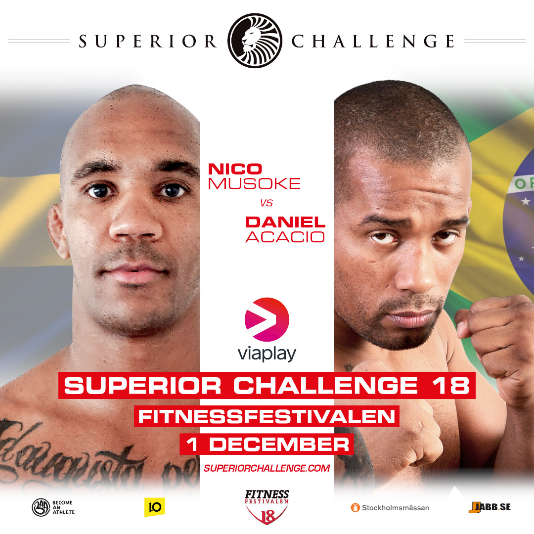 Nico Musoke vs Daniel Acacio Superior Challenge 18 - Fitnessfestivalen