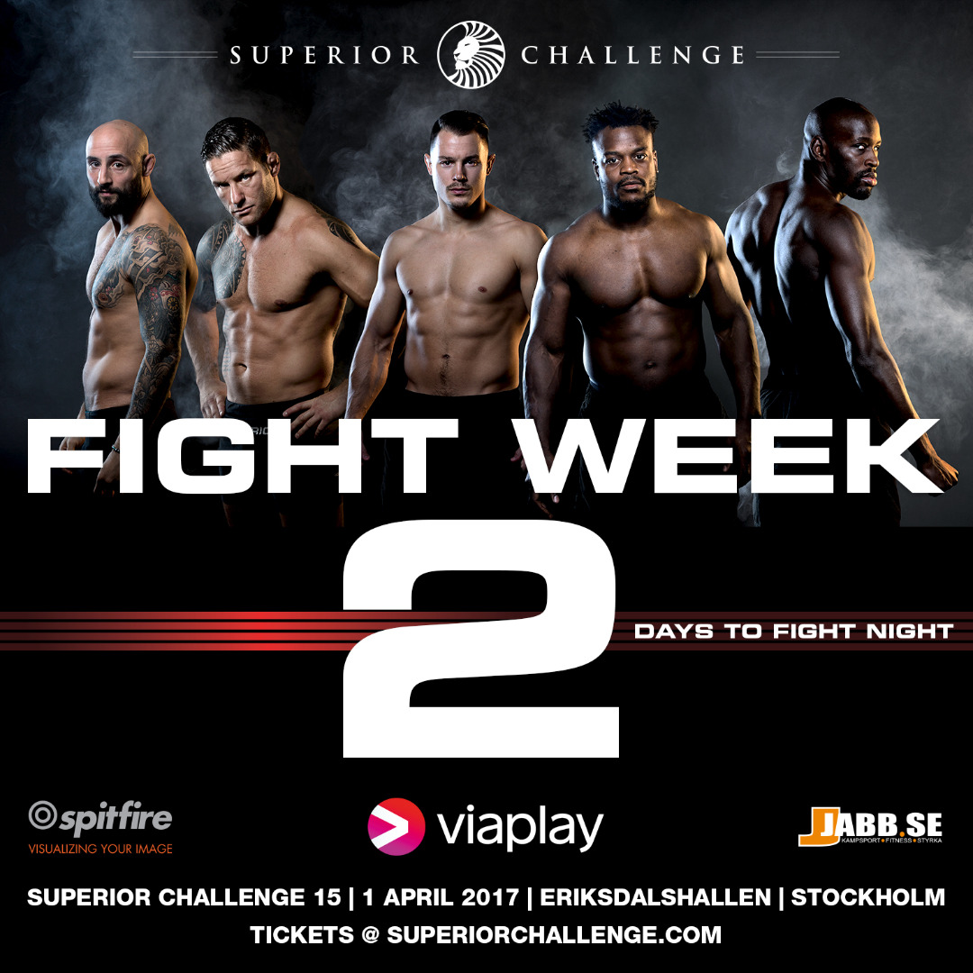 Fight Week, 2 days left to fight night