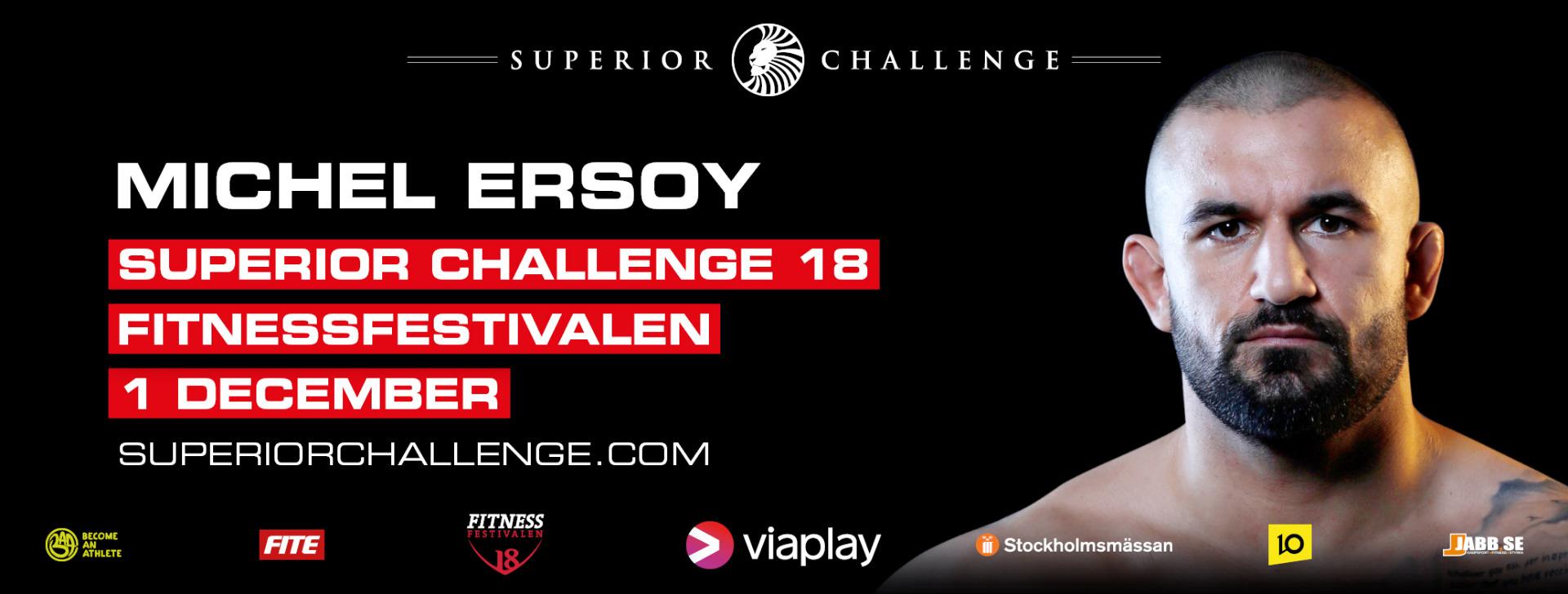 Michel Ersoy Superior Challenge 18 Fitnessfestivalen