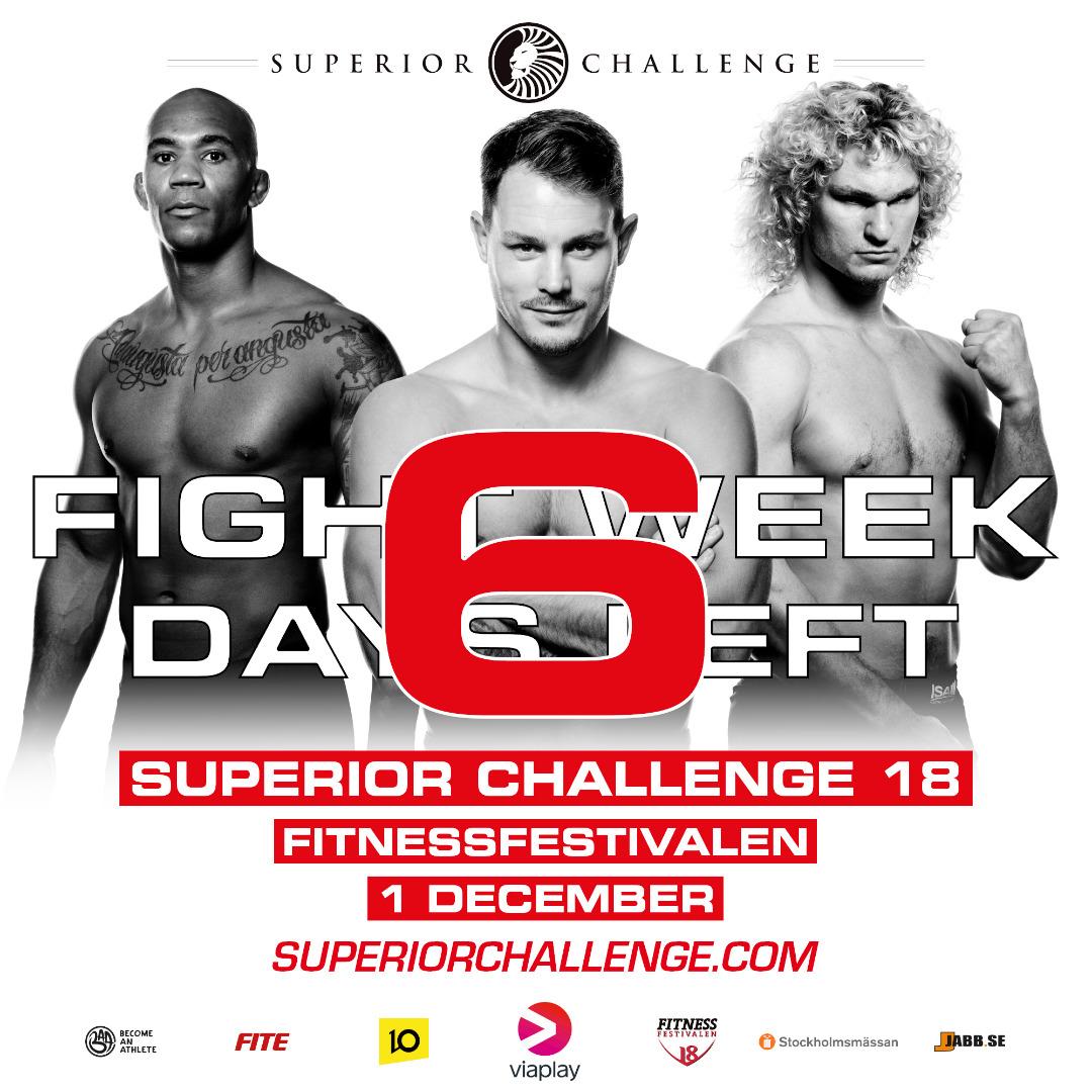 Superior Challenge 18 - Fitnessfestivalen Fight week