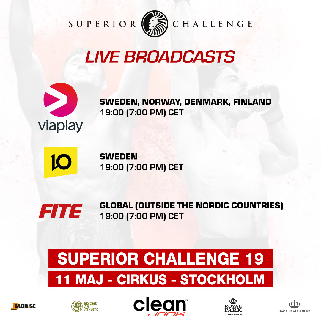 live broadcasts superior challenge 19