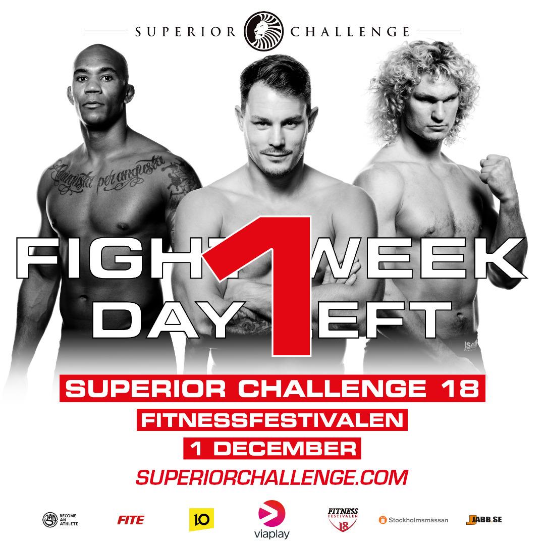 weigh-in day Superior Challenge 18 Fitnessfestivalen