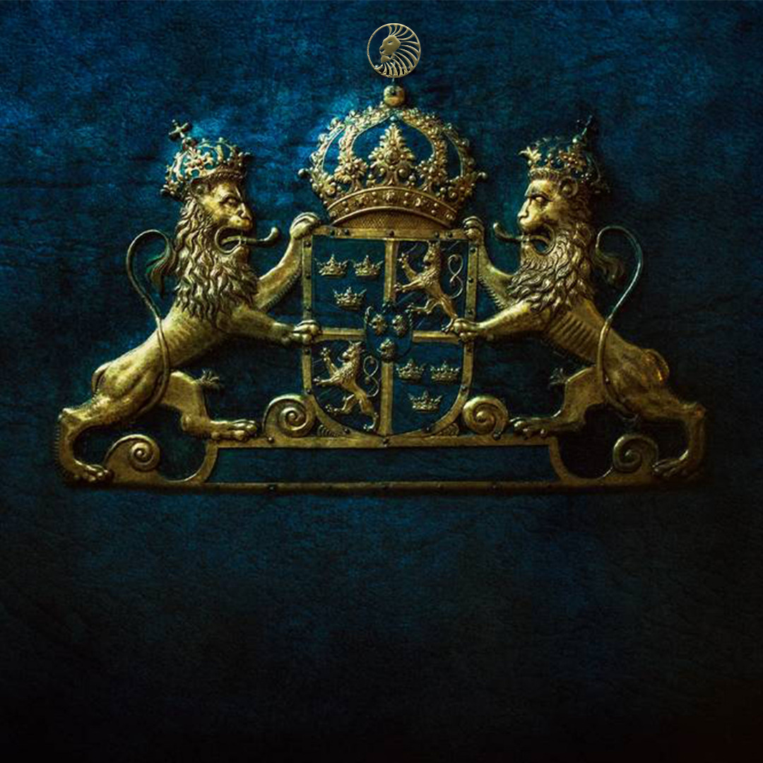 The Coat of Arms of Sweden plus Superior lion