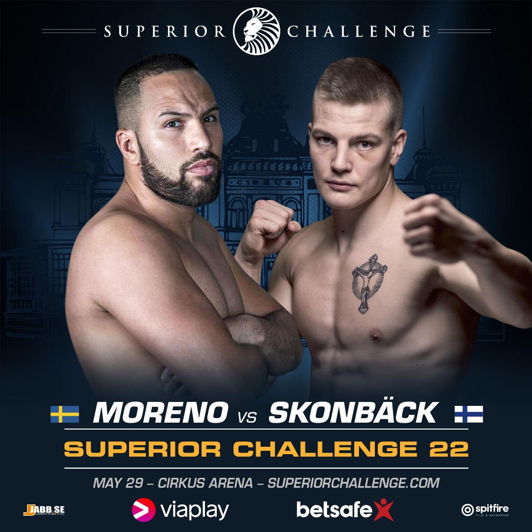 Moraad Moreno vs Niko Skonbäck at Superior Challenge 22