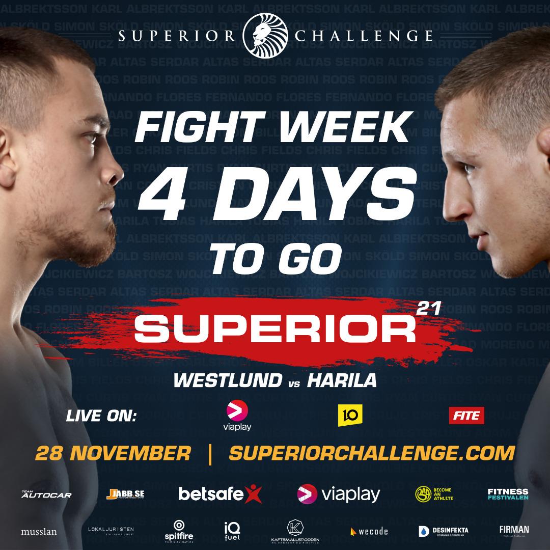 Fight Week 4 days left Superior Challenge 21