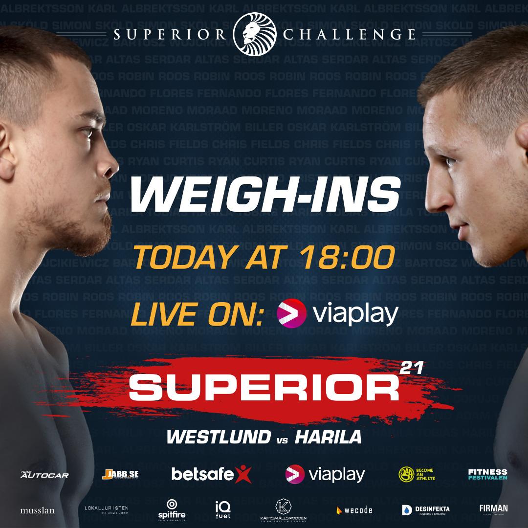 Weigh-ins Superior Challenge 21 - Westlund vs Harila